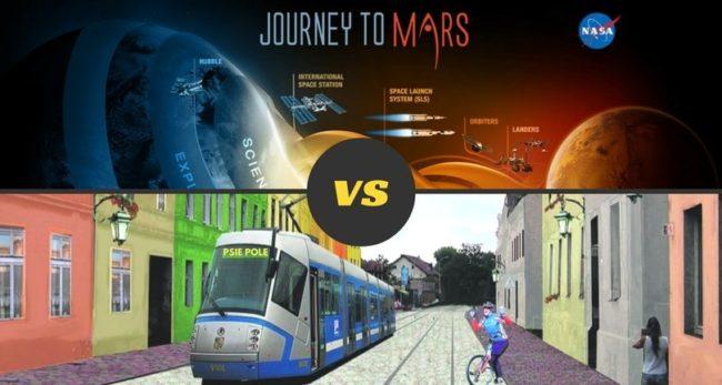 Człowiek na Marsie czy tramwaj na Psim Polu? [GŁOSOWANIE]