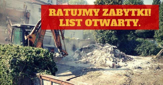 List otwarty: Ochrona wrocławskich zabytków