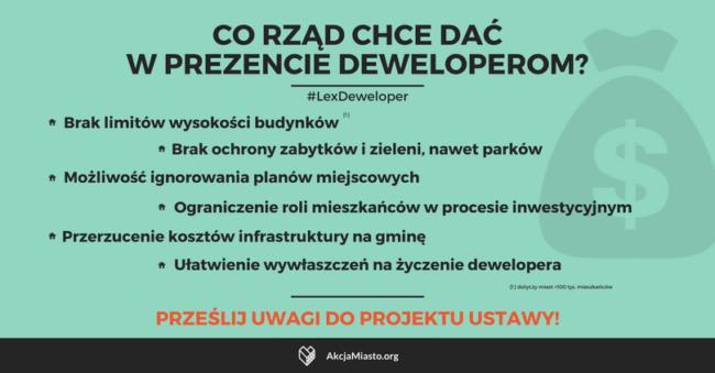 #LexDeweloper – ślemy uwagi do Ministerstwa