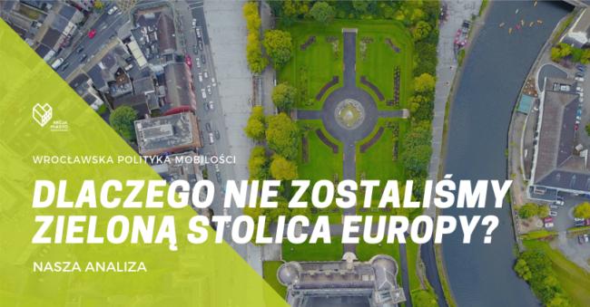 Wrocław nie jest zieloną stolica mobilności